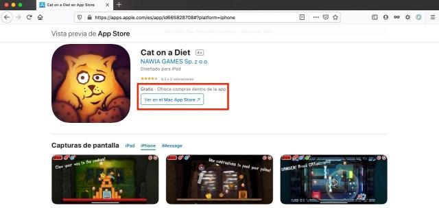 Cat on a diet, apps y juegos gratis