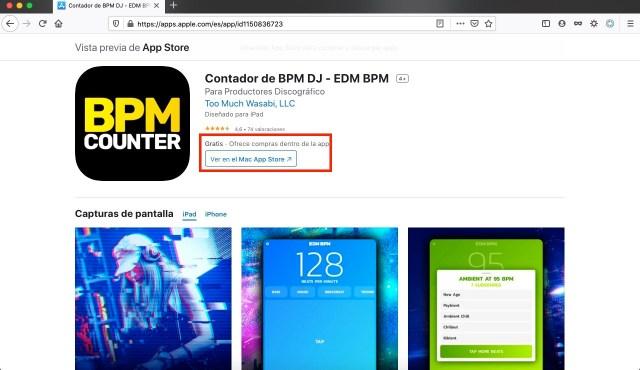 Contador de BPM, app gratis por tiempo limitado