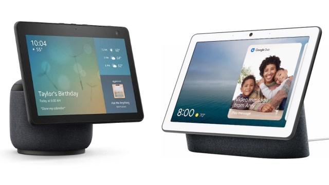 Echo Show 10 y Google Nest Hub Max