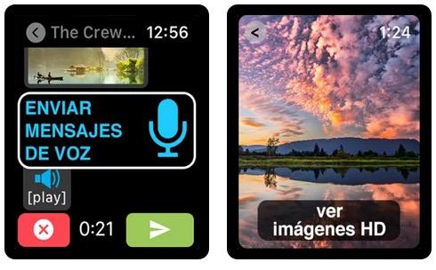 Enviar mensajes de voz WhatsApp en Apple Watch