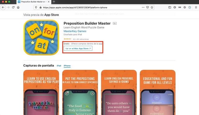 Preposition Builder Master, juego gratis por tiempo limitado