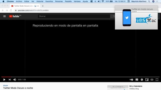 Video en ventana flotante Chrome