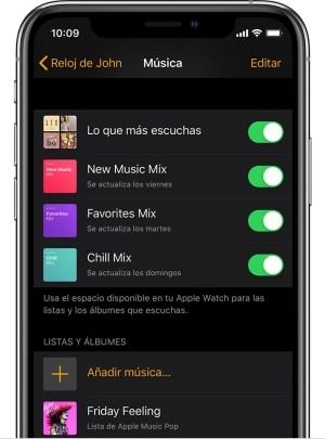 Escuchar musica en Apple Watch