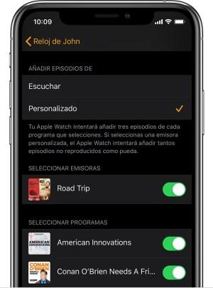 Podcasts en Apple Watch