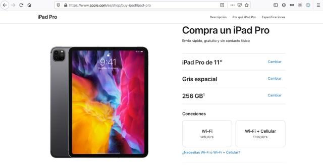 """iPad Pro 11"""" Precios España"""