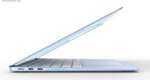 Concepto MacBook Air de colores