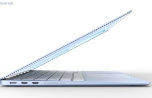 Concepto MacBook Air de colores