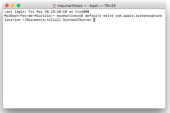 cambiar ubicacion de captura de pantalla macOS