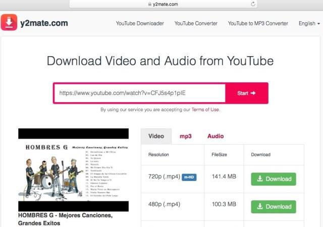 Atajo de YouTube descarga