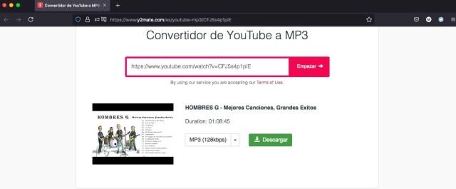 Descargar musica de YouTube y2mate