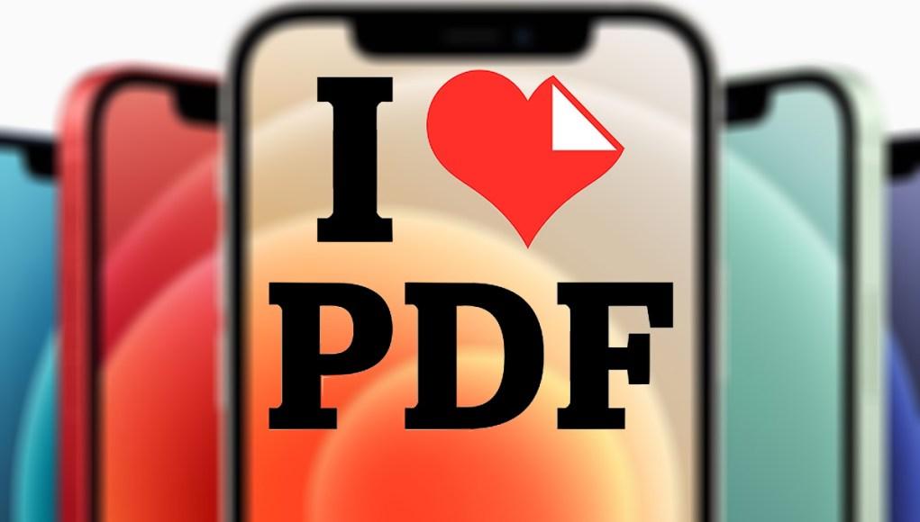 iPhone con iLovePDF