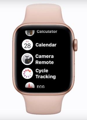 App Camara en Apple Watch