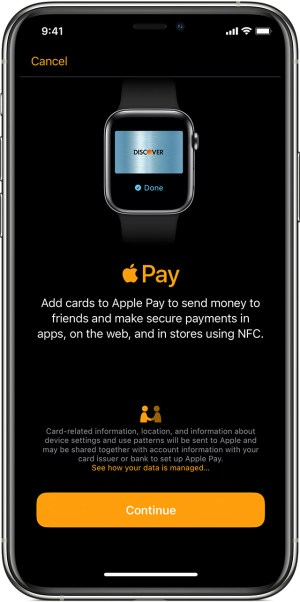 Agregar tarjeta de Apple Pay a Apple Watch