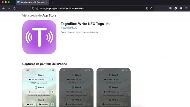 Apps y juegos gratis, Tagmiibo