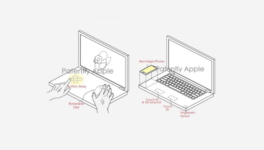 patente para un MacBook de doble pantalla