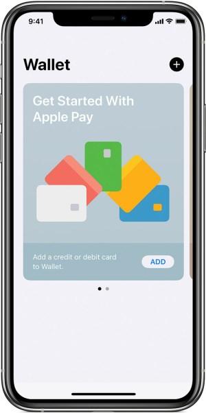 iPhone con la app Wallet