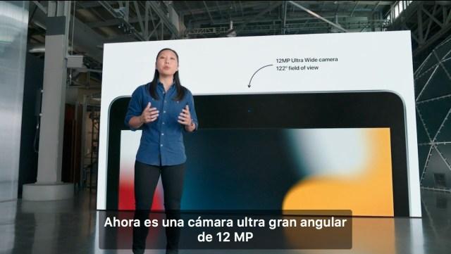 Camara ultra gran angular 12 MP iPad 9
