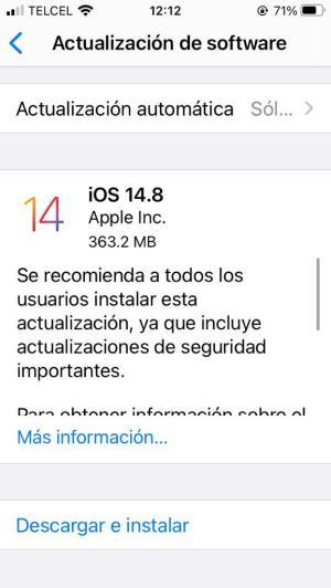 iOS 14.8 iPhone