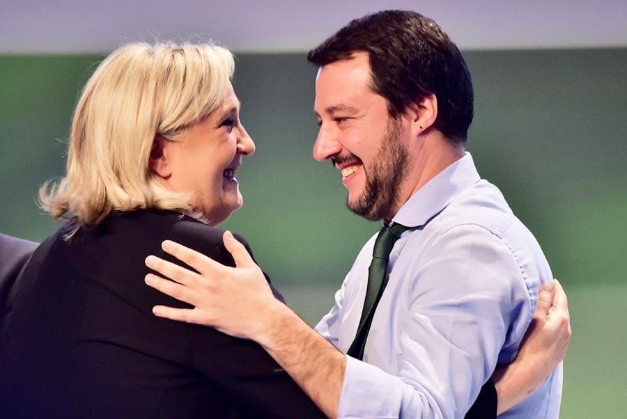 Le Pen e Salvini