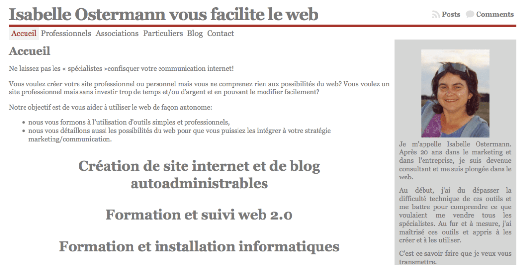 www.isabelle-ostermann.fr : version 1