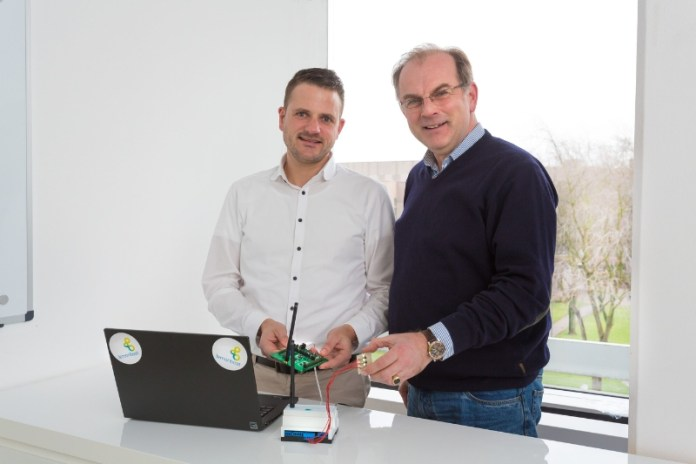Managing director Holger Wellner (L) and Frank Reusch present Lemonbeat