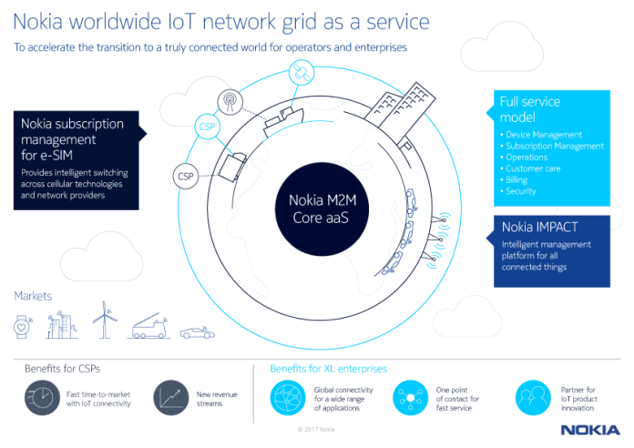Nokia worldwide IoT network grid as a service