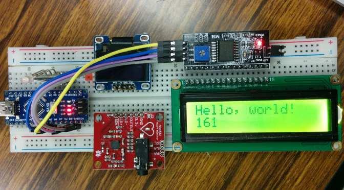 Arduino NANO (2) 1602 LCD i2c 表示
