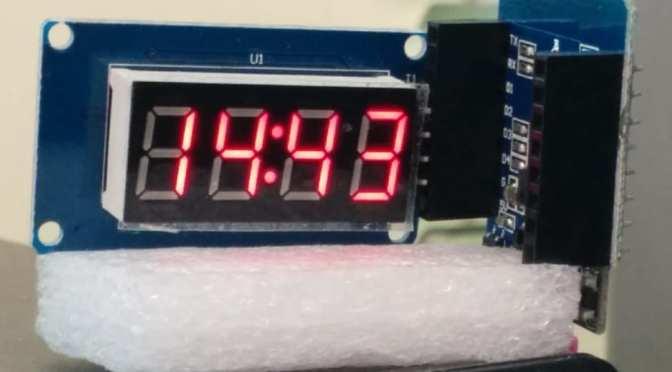 WeMos (c7) Web Clock
