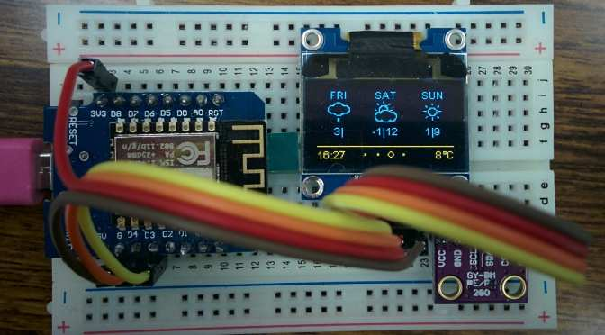 Wemos (c8) Weather Station
