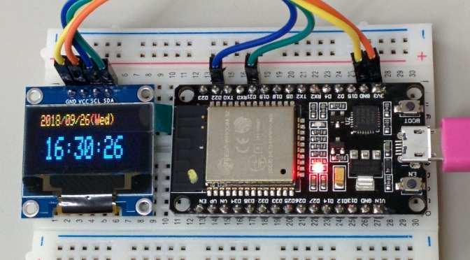 ESP32 (2) SSD1306 & Clock