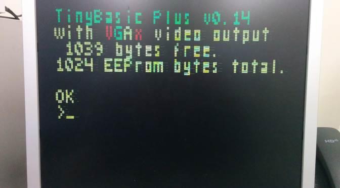 Arduino NANO (10) Basic PC With VGA Output
