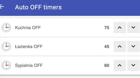 OpenHAB BasicUI timer settings