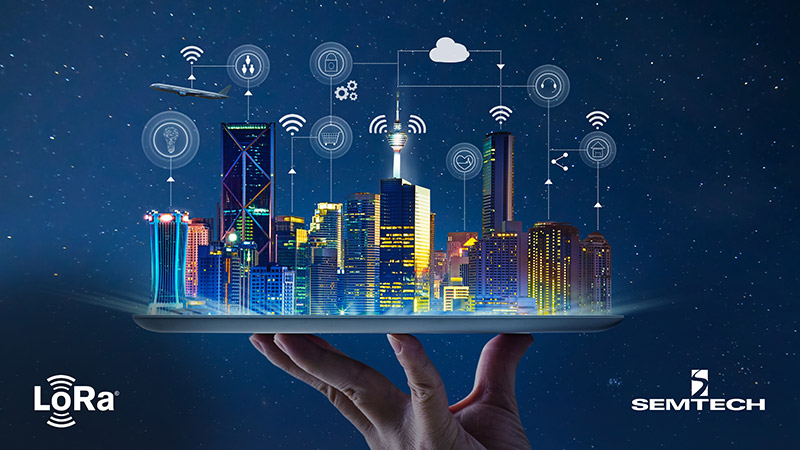 Semtech smart city with smart buildings