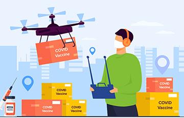 COVID vaccines drone delivery
