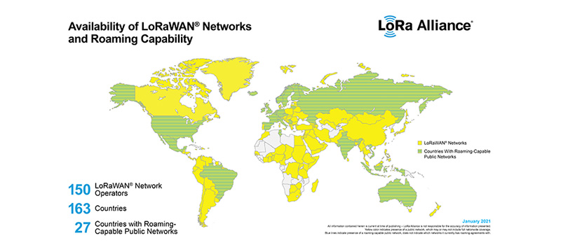 LoRa Alliance® Announces LoRaWAN® Roaming Now Available in More Than 25 Countries