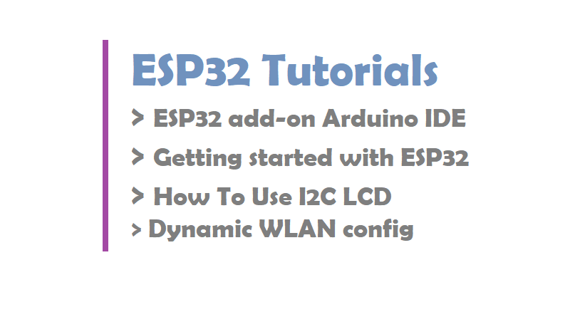ESP32 Tutorials