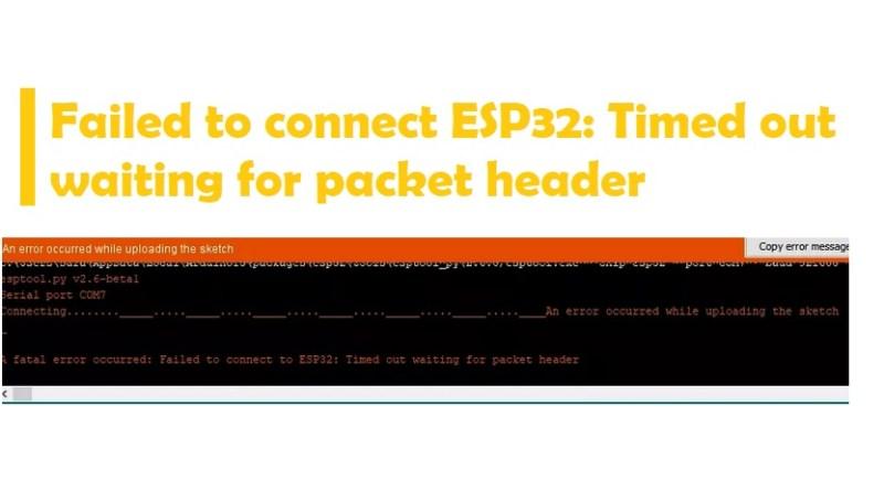 Failed to connect ESP32