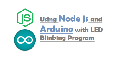 Using Node js and Arduino with LED Blinking Program
