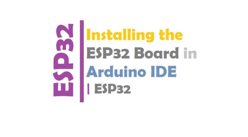 Installing the ESP32 Board in Arduino IDE