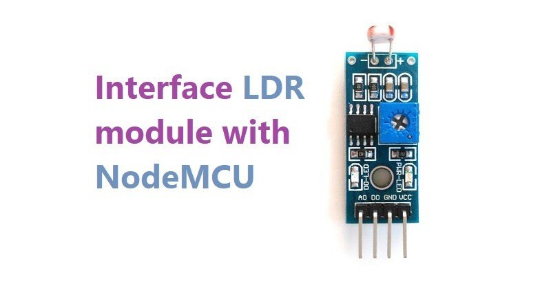 Interface LDR module with NodeMCU