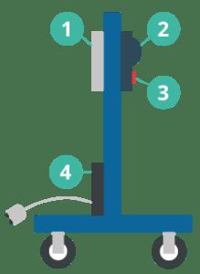 Mobile camera pole