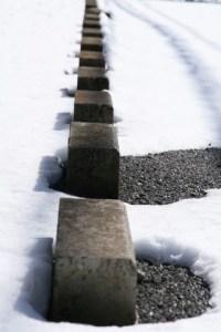 ブロックと雪