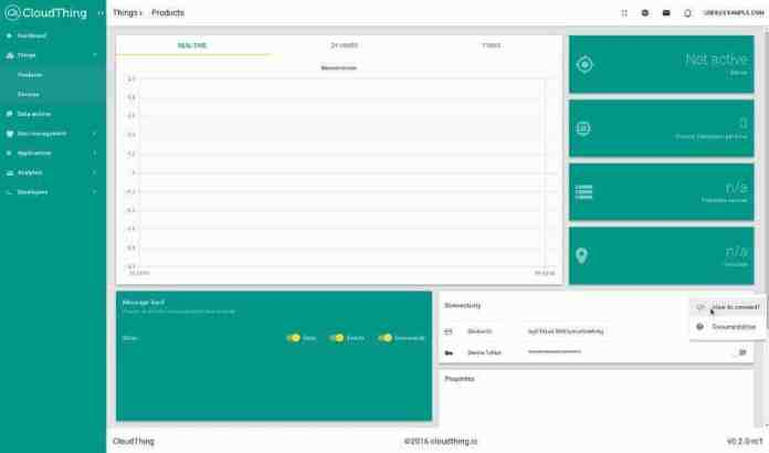Device view for managing and reading data- iot product development