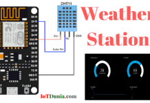 Weather Station - IoT base using NodeMCu