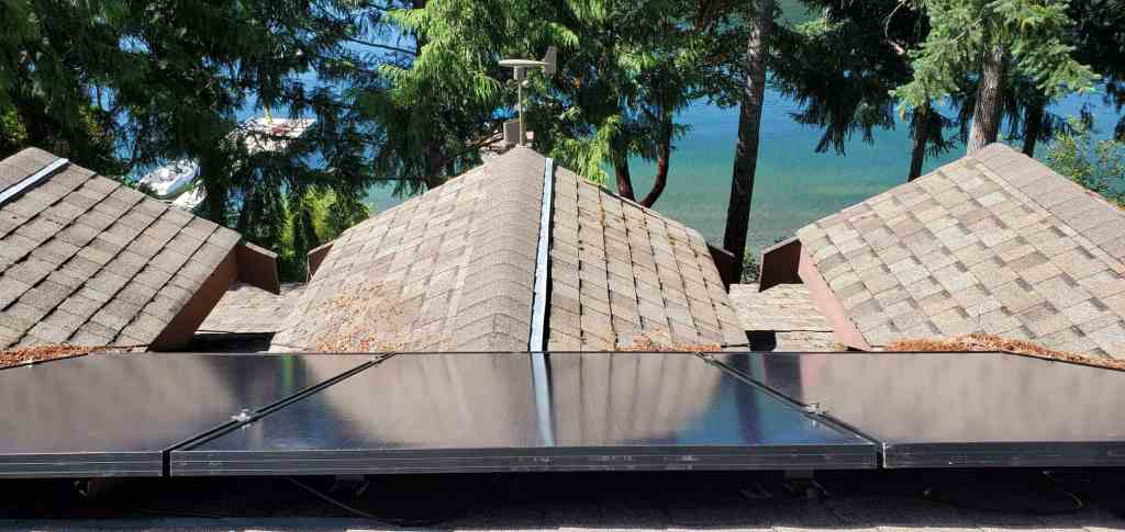 Horne Lake solar panel upgrade