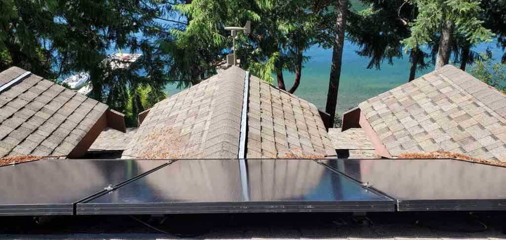 Horne Lake solar panel upgrade