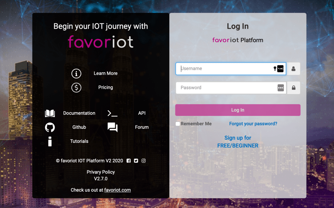 Updates on IoT Platform Resources (FAVORIOT)
