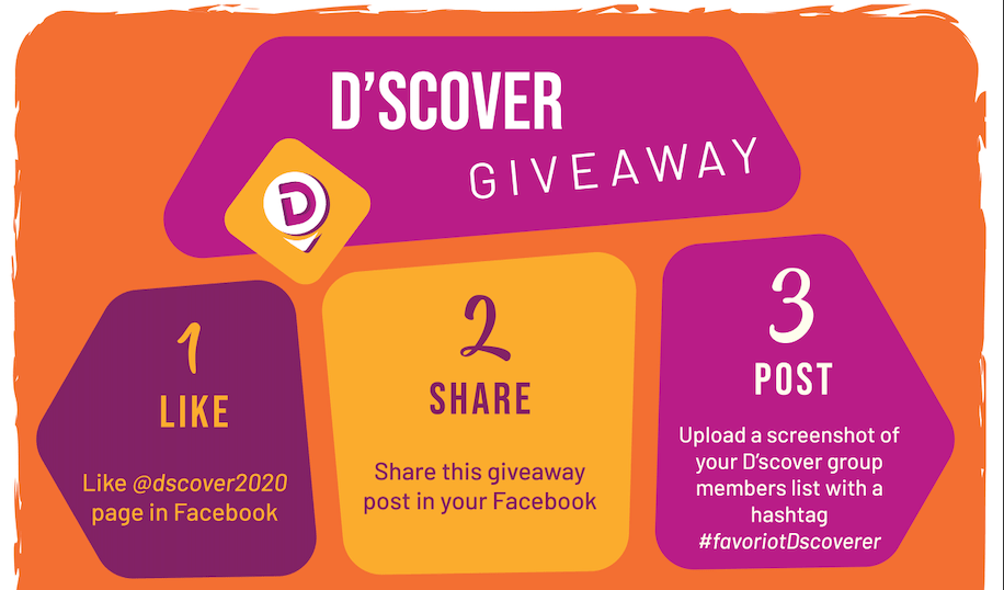 D'scover GIVEAWAY