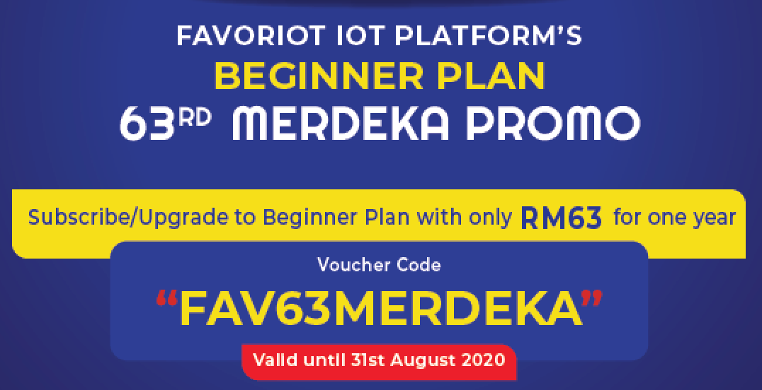 FAV63MERDEKA – FAVORIOT Beginner Plan Merdeka Promo