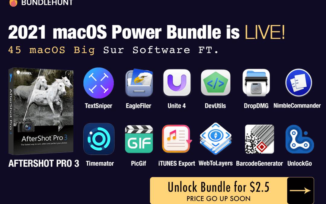 """2021 macOS Power Bundle! 49 """"Big Sur"""" Compatible macOS Apps"""